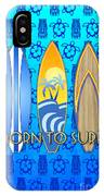Born To Surf And Tiki Masks IPhone Case