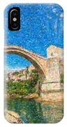 Bosnia Mostar Herzegovina Europe Travel Landmark IPhone Case
