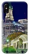 Boston Above Christopher Columbus Park IPhone Case