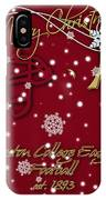 Boston College Eagles Christmas Card IPhone Case