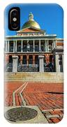 Boston Freedom Trail To State House Boston Ma IPhone Case
