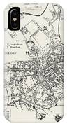 Boston Map, 1722 IPhone Case