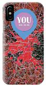 Boston Massachusetts 1948 Red Old Map You Are Here IPhone X Case