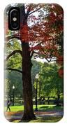 Boston Public Garden Autumn Tree Morning Light Walk In The Park IPhone Case