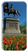 Boston Public Garden Tulips Boston Ma IPhone Case