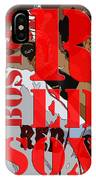Boston Red Sox Original Typography  IPhone Case