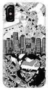 Boston Skyline Black And White IPhone Case