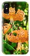Botanical Master Gardens Art Prints Orange Tiger Lilies Baslee Troutman IPhone Case
