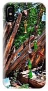Bottle Fence In Golden New Mexico IPhone Case