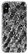 Bottle Wall Black And White IPhone Case