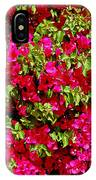 Bougainvillea And Foliage IPhone Case