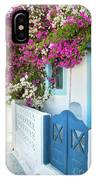Bougainvillea In Santorini Island IPhone Case