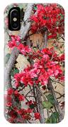 Bougainvillea On Mission Wall - Digital Painting IPhone Case
