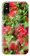 Bougainvillea Repeating Pattern Abstract I IPhone Case
