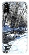 Boulder Creek After A Snowstorm IPhone Case