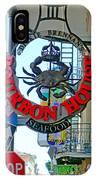 Bourbon House Signage IPhone Case