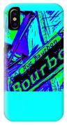 Bourbon Street In Blue IPhone Case