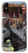 Bouvier Des Flandres - Flandres Cattle Dog Art Canvas Print - Knights Tournir IPhone Case