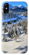 Bow Valley Mountains IPhone Case