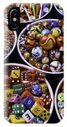 Bowls Full Of Marbles And Dice IPhone Case