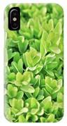 Boxwood Leaves IPhone Case