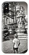 Boy At Statue In Sicily IPhone Case