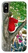 Boy In A Tree IPhone Case