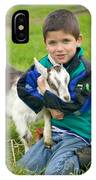 Boy With Goat IPhone Case