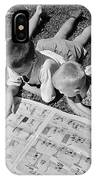 Boys Reading Newspaper Comics, C.1950s IPhone Case