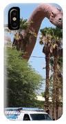 Brachiosaurus Running Through Cabazon IPhone Case
