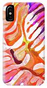 Brain Coral Abstract 6 In Orange IPhone Case