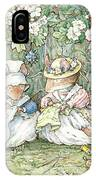 Brambly Hedge - Hawthorn Blossom And Babies IPhone Case