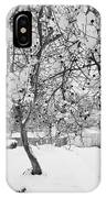 Branches In Snow IPhone Case