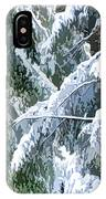 Branches In Winter Season With Fresh Fallen Snow IPhone Case