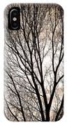 Branches Silhouettes Mono Tone IPhone Case