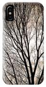 Branches Silhouettes Mono Tone IPhone Case
