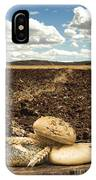 Bread And Wheat Ears. Plowed Land IPhone X Case