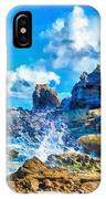 Breakers On The Rocks At Kenridgeview - On - Sea L B IPhone Case