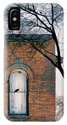 Brick Building Window With Bird IPhone Case