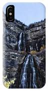 Bridal Veil Falls Provo Utah IPhone Case