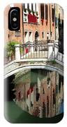 Bridge And Reflection Venice, Italy IPhone Case