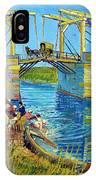 Bridge At Arles, Pont De Langlois, By Vincent Van Gogh, 1888, Kr IPhone Case