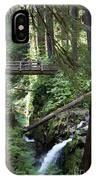 Bridge At Sol Duc Fall #1 IPhone Case