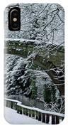 Bridge In Snow IPhone Case