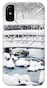 Bridge In Winter Snow IPhone Case