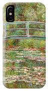 Bridge Over A Pond Of Water Lilies IPhone Case