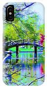 Bridge Over Peaceful Waters IPhone Case