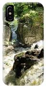 Bridge Over The River Braan, And The Black Falls In The Hermitage, At Dunkeld IPhone Case