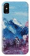 Bright Blue Mountains IPhone Case