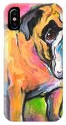 Bright Bulldog Portrait Painting  IPhone Case